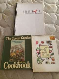 Lot of 3 Vintage & Hotel Cookbooks