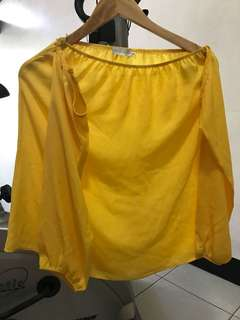 Apartment Eight Yellow Off Shoulder Top
