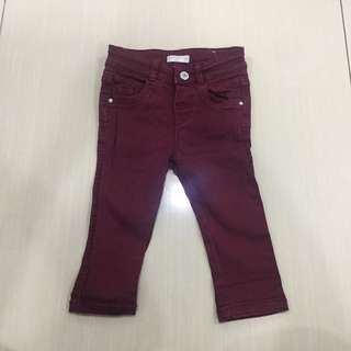 Mango red jeans baby