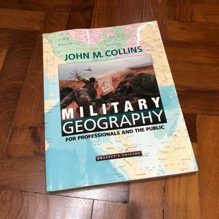 Military Grography Book by Collins