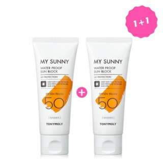 [PO] Tonymoly my waterproof sunblock 1+1
