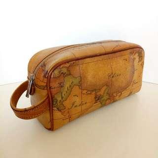 Authentic Alviero Martini Leather Clutch Bag