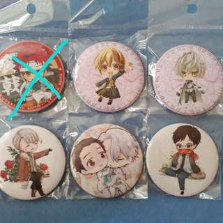 [Instock 🐳] Anime 58mm Matte Badges (Part 2)