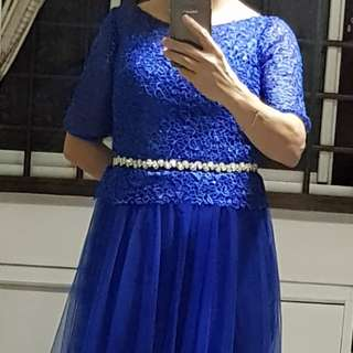 Blue Long Evening Gown