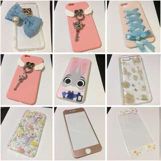 iPhone 6/6S 手機殼/鋼化膜 $10/1