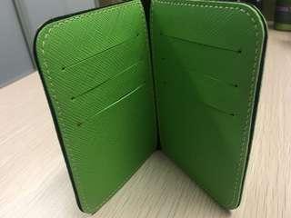 Card holder in green