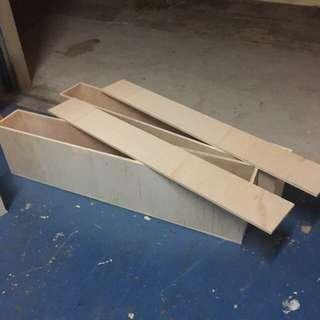 Custom plywood boxes