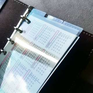 POCKET PLANNER DIVIDER TOP/BOTTOM 3 tabs