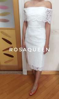 白色 prewedding 裙