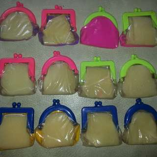 Vintage: Small Plastic Purses (12) (New) 1970's