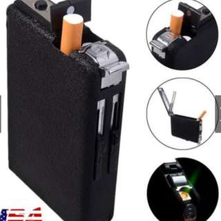 GENTLEMEN'S CIGAR/CIGARETTE LIGHTER WITH AUTOMATIC LIGHT AND EJECTION THAT POPS OUT THE STICK SO NICELY THAT PEOPLE WILL ADMIRE