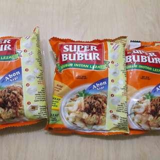 New Super Bubur Rasa Abon Sapi Take All 3pc