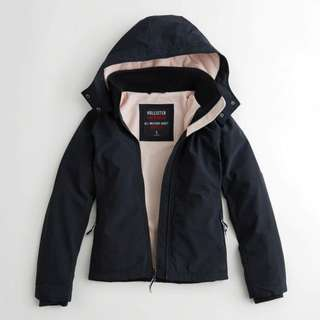 HOLLISTER | navy all-weather jacket