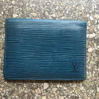 AUTH Louis Vuitton Epi Porte2 Cartes Vertical Pass Case