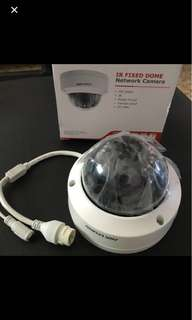 1.3 / 2 MP HIKVISION POE IP Fixed Dome Camera