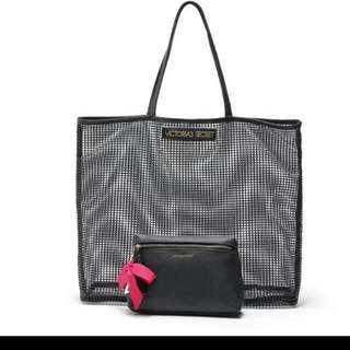 New! VICTORIA SECRET 2in1 Mesh Tote Bag PERFECT FOR SUMMER