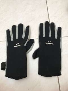 Oceanic dive gloves