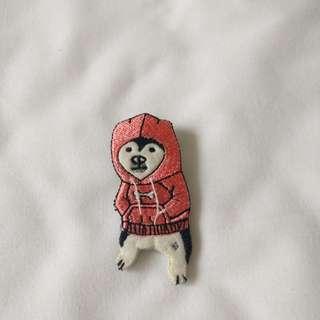 柴犬 狗仔 著衛衣 胸針 扣針
