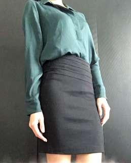 H&M Green Long Sleeves Blouse
