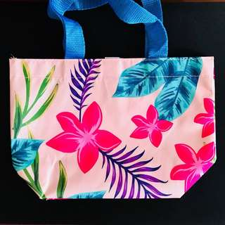 Small Floral Shopping Bag Pouch