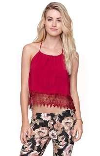 LA Hearts lace tank,straples top