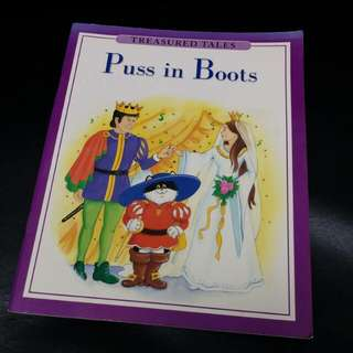 Story Book TERASURED TALES Puss in Boots 兒童英文故事書