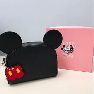 Mickey & Minnie Crossbody Bag with Mouse Charm
