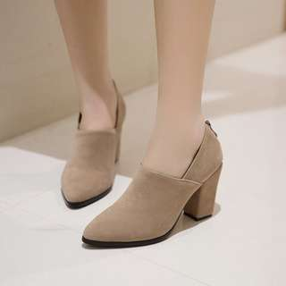 Size 32-45 Pointed Toes Chunky High Heels