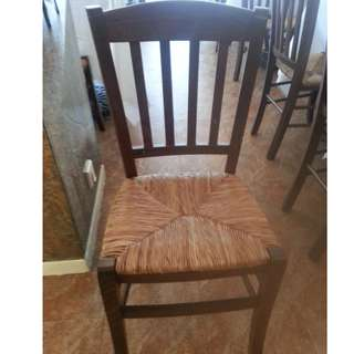 Italian Wooden Country Chairs.