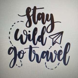 Stay wild go travel die cut decal