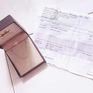 Athena 18k White Gold Necklace