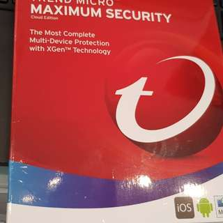 Trend micro Maximum Security 3 years 5 devices