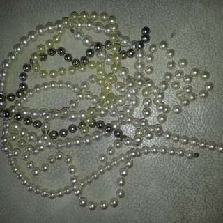 Vintage: Necklace Pearl Simulated (New) in Loose Strings