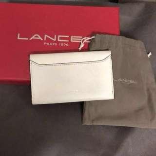 Lancel Small White Wallet