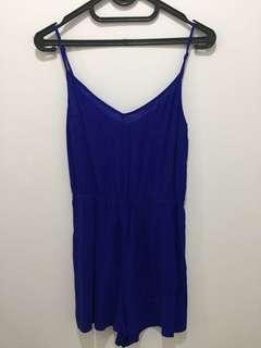 Blue electric jumpsuit