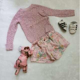 Pinky set (sweatshirt + hotpants)