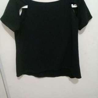 CLOTH INC black cut out top