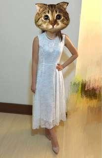 White lace dress Simple Wedding Dress 輕婚紗