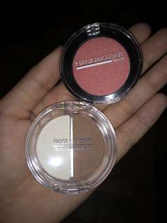 Blush and nose shadow!!