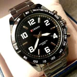 CURREN銀鋼日曆型格鋼帶手錶 Original CURREN Silver Steel Calendars Stainless Steel Watch