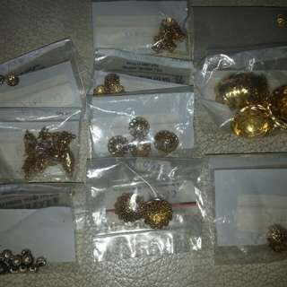Vintage: Gold Metalic Head Ends (New) High Quality