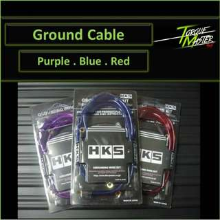 Ground Cable . Installation Available . Purple blue red.
