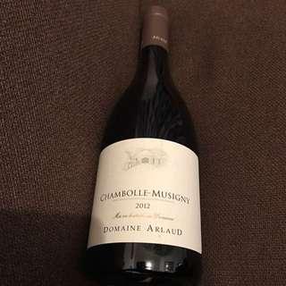Chambolle-musigny 2012 domaine arlaud 750ml