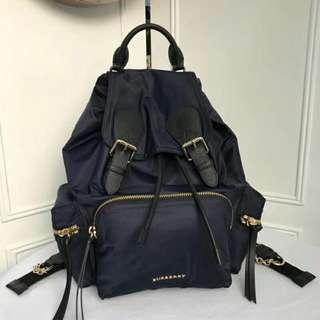 Burberry Nylon Rucsack Double Shoulder Backpack Blue
