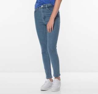 Authentic Levi's Line 8 High Rise Skinny Jeans