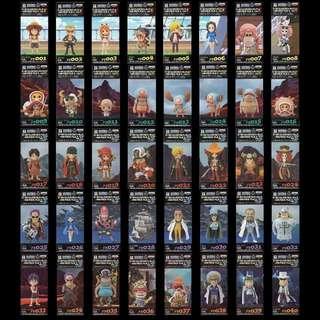 BANPRESTO One Piece WCF Film Z Complete (1 2 3 4 5)