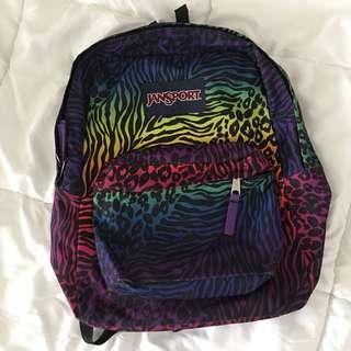 Jansport Mixed Print + Rainbow backpack