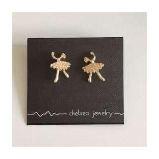 Gold Ballerina Earrings