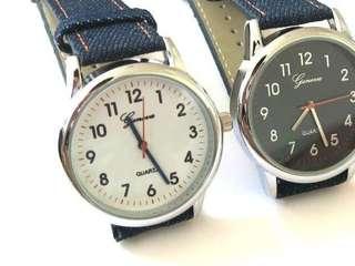 牛仔布錶帶手錶 Watch