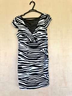 Preloved Zebra Print Formal Dress